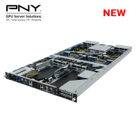 Compact Purley 1U Dual-CPU 4GPU Server for HPC and VDI Applications, Up to 4 x Nvidia Tesla GPU