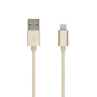 Gold Braided Lightning Cable 4ft/1,20M