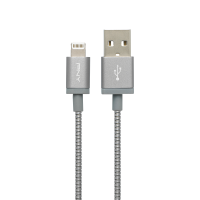 Grey Metallic Lightning Cable
