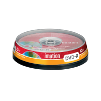 Imation 4.7GB/120-Minute 16x DVD-R, 10 Discs Spindle Base