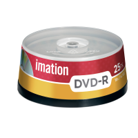 Imation 4.7GB/120-Minute 16x DVD-R, 25 Discs Spindle Base