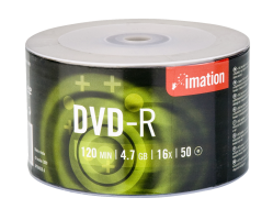 Imation 4.7GB/120-Minute 16x DVD-R, 50 Discs on Eco Spindle Base