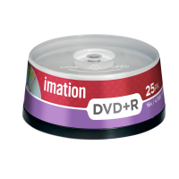 Imation 4.7GB/120-Minute 16x DVD R, 25 Discs Spindle Base