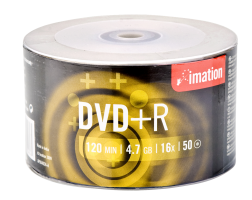 Imation 4.7GB/120-Minute 16x DVD R, 50 Discs on Eco Spindle Base