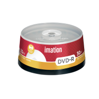 Imation 4.7GB/120-Minute 16x DVD-R White Inkjet Printable Surface, 30 Discs Spindle Base