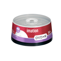 Imation 4.7GB/120-Minute 16x DVD R White Inkjet Printable Surface, 30 Discs Spindle Base