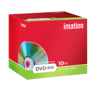 Imation 4.7GB/120-Minute 4x DVD-RW, 10 Discs