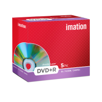 Imation 8.5GB/240-Minute 8x DVD R, 5 Discs